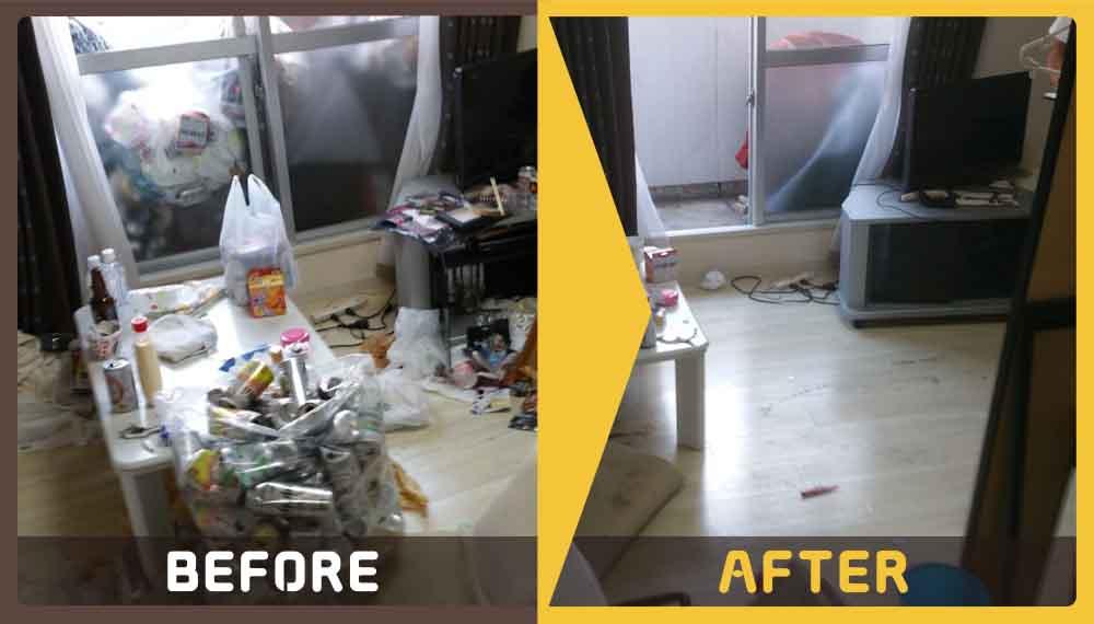 マンションの一室(1K)にあるゴミ類の処理にお困りのお客様からご依頼いただきました。