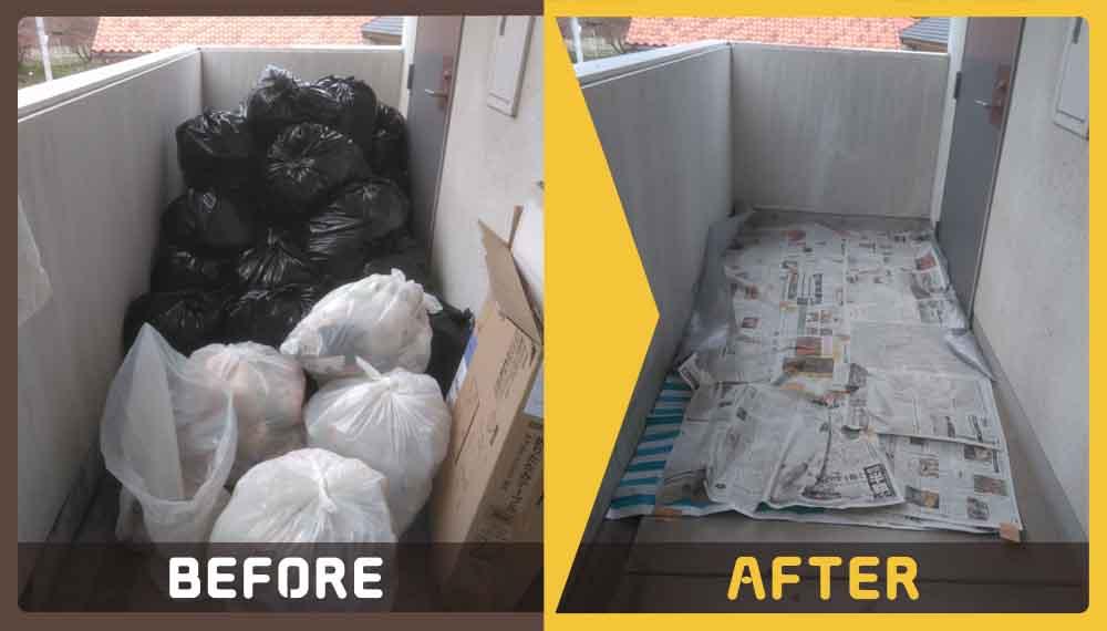 大量のゴミの処理にお困りのお客様からご依頼いただきました。