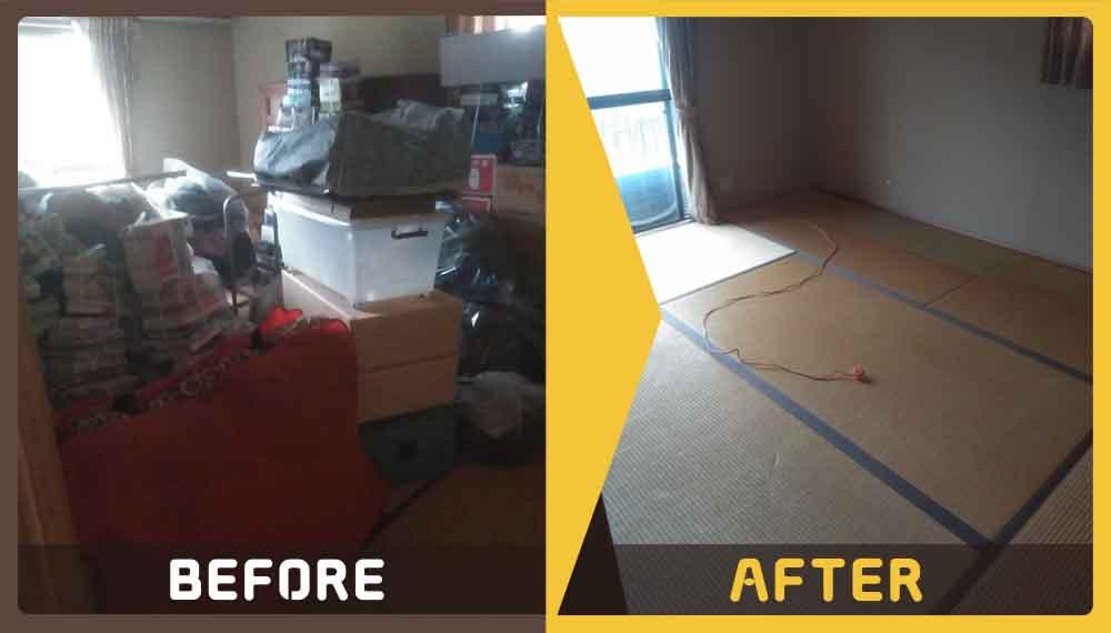 ご自宅をリフォームするにあたりに家具やゴミの処理にお困りのお客様からご依頼いただきました。
