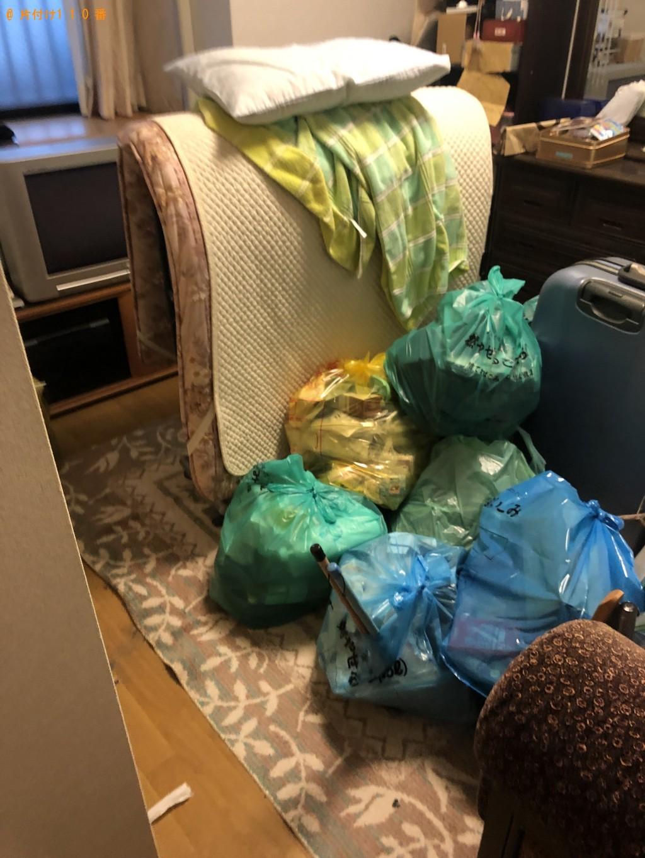不用品回収と簡易清掃をお願いしたい。