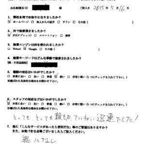 武蔵野市にてアパートの不用品の回収処分のご依頼 お客様の声