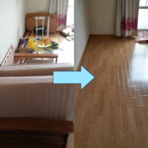 引っ越し作業の邪魔をしている不要家具を即日回収!対応が早くて助かった、とお喜び頂けました!
