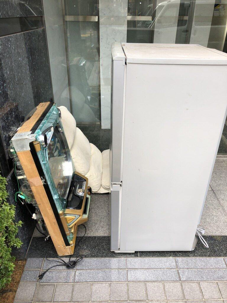 冷蔵庫、座椅子、パチンコ台の不用品回収処分 お客様の声