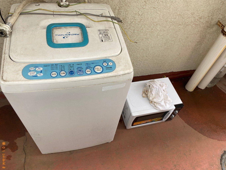 冷蔵庫、洗濯機、ガラステーブル、布団等の回収・処分