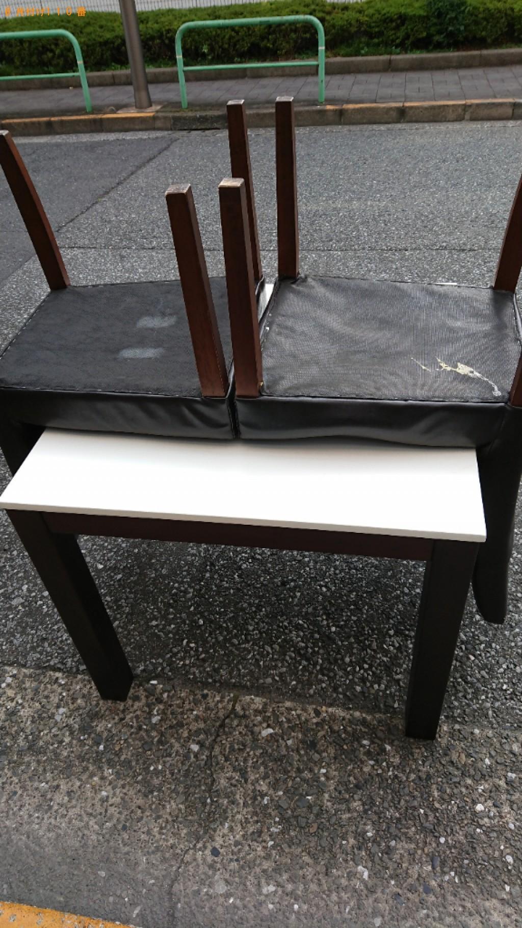 【江東区】二人用ダイニングテーブル、椅子の回収・処分ご依頼