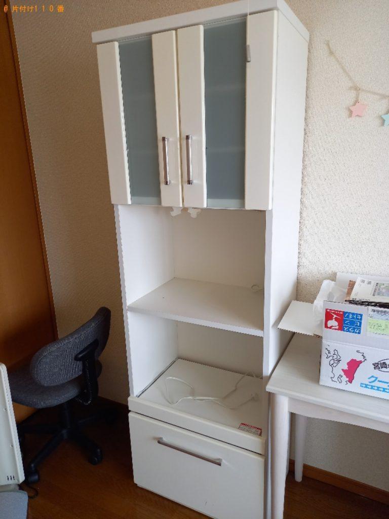 【足立区】遺品整理に伴い食器棚、シングルベッドマットレス、椅子、学習机等の回収