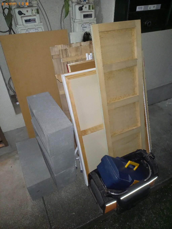 【世田谷区】木製パネル、木の板、工具バッグの回収・処分ご依頼