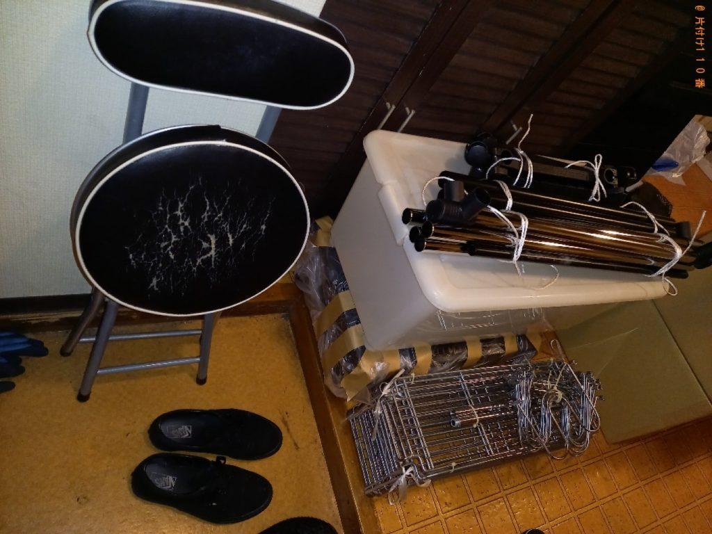 【江戸川区】パソコン、衣装ケース、パイプ椅子、メタルラック等の回収