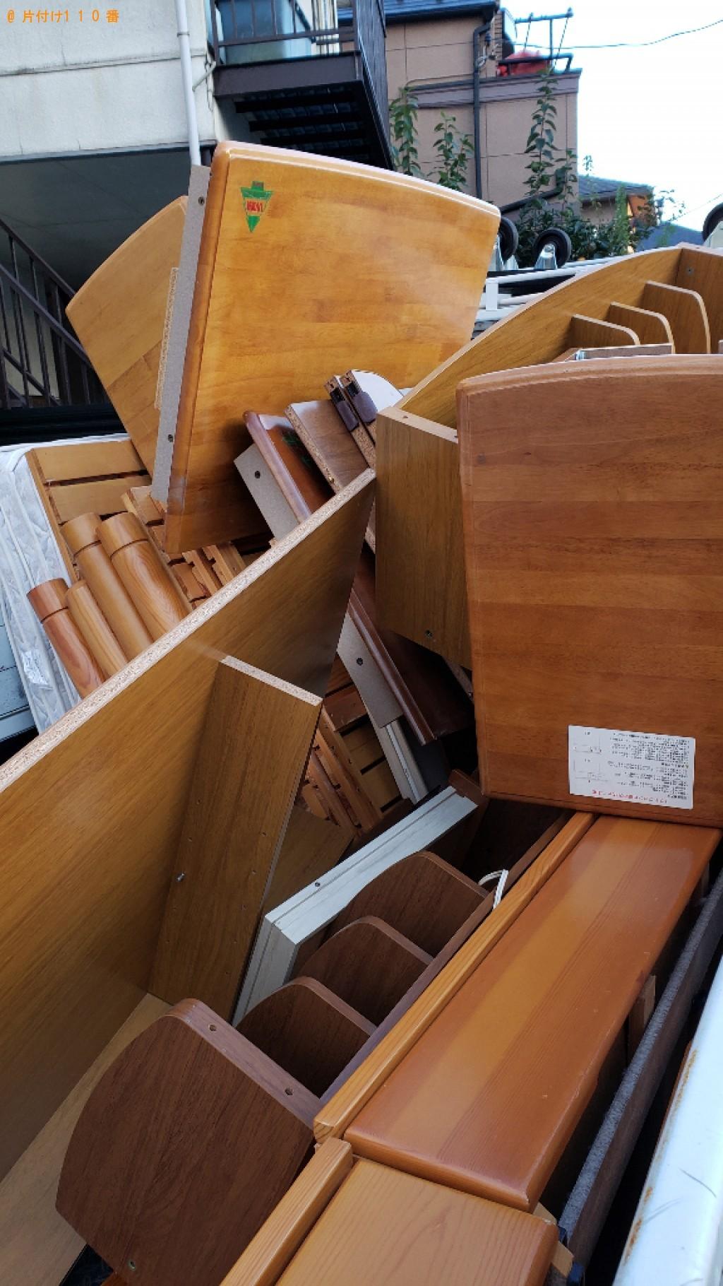 【小金井市】二段ベッド、学習机の回収・処分ご依頼 お客様の声