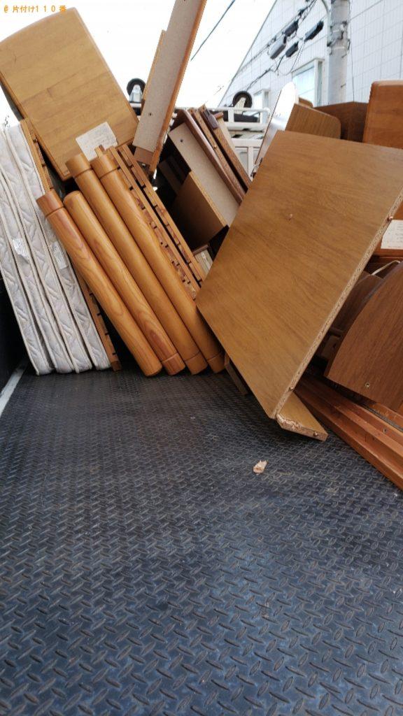 【練馬区】遺品整理で二段ベッド、学習机の回収・処分ご依頼 お客様の声