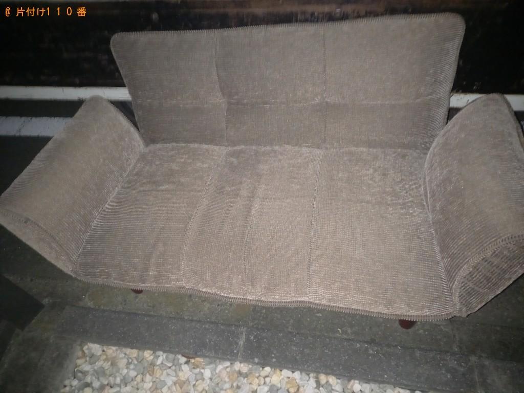 【杉並区】二人掛けソファー、CDデッキ、木製ラック等の回収・処分