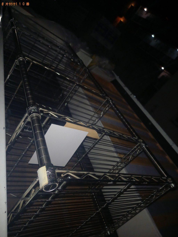 【世田谷区】本棚、四人用ダイニングテーブル、ラック等の回収・処分