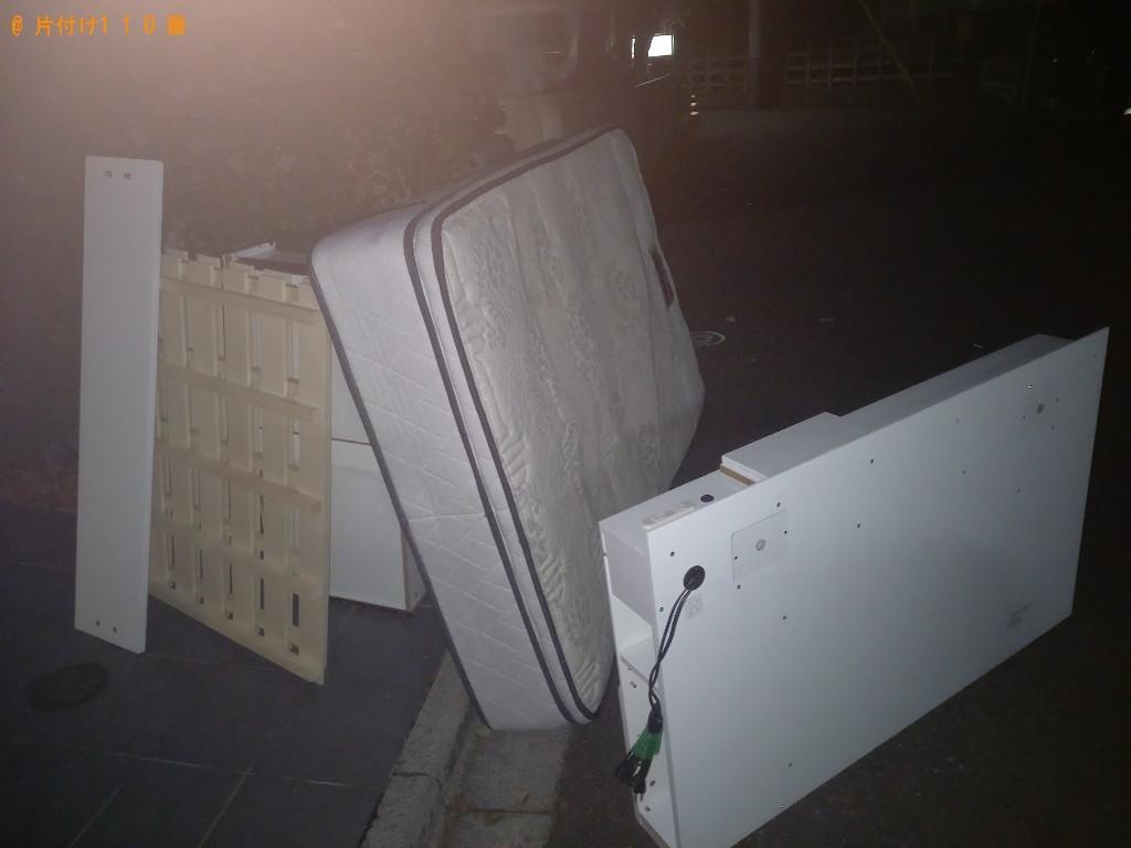 【世田谷区】マットレス付きセミダブルベッドの回収・処分ご依頼