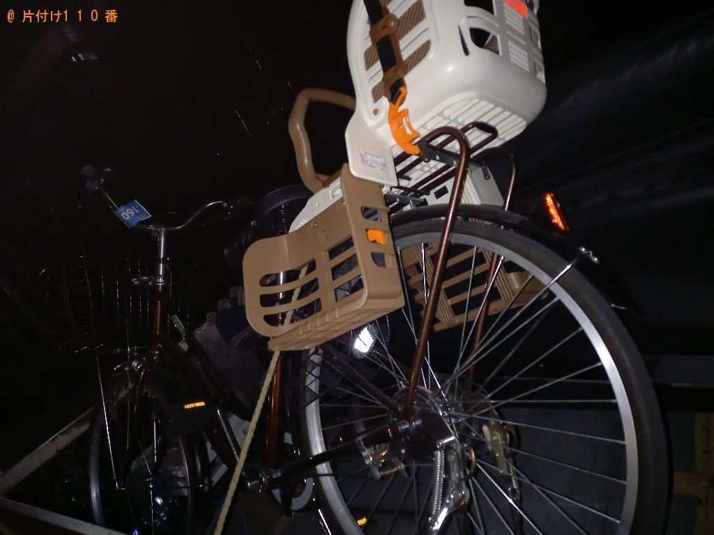 【世田谷区】椅子、小さい木のテーブル、自転車の回収・処分ご依頼