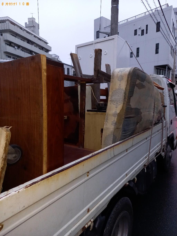 【荒川区】テレビ、マットレス付きダブルベッド等の回収・処分ご依頼