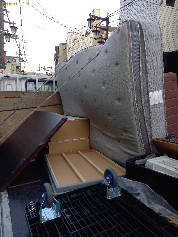 【世田谷区】マットレス付きダブルベッドの回収・処分ご依頼