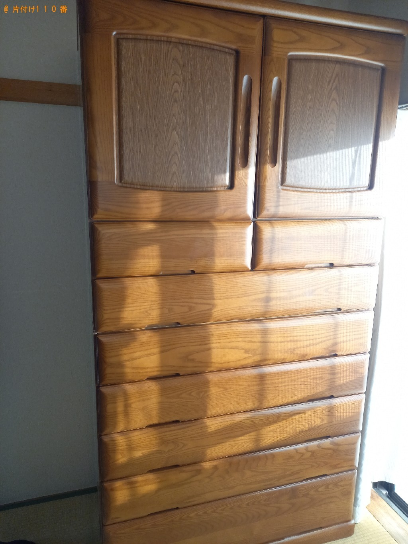 【調布市】タンス、マットレス付きシングルベッド等の回収・処分