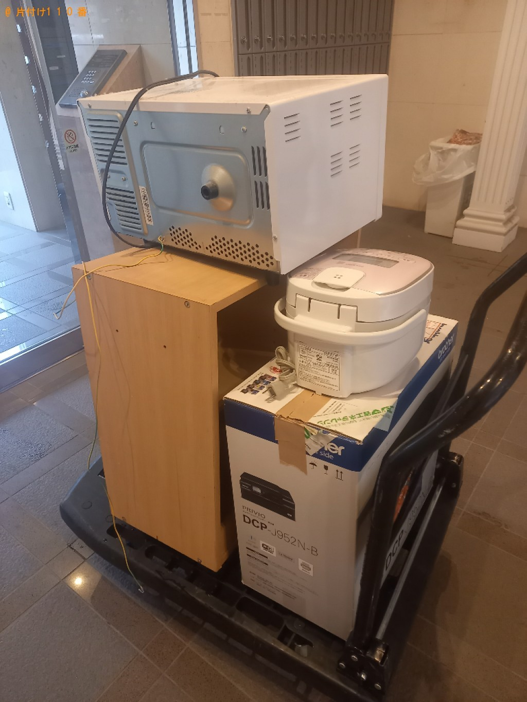 本棚、炊飯器、電子レンジ、プリンターの回収・処分ご依頼