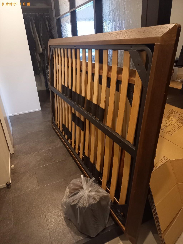 【世田谷区】シングルベッド、セミダブルベッドの回収・処分ご依頼