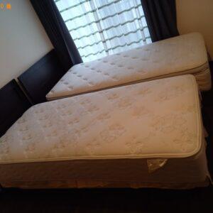 【千代田区二番町】マットレス付きシングルベッド、タンス等の回収