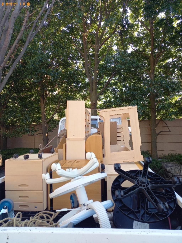 【調布市深大寺南町】学習机、椅子の回収・処分ご依頼 お客様の声