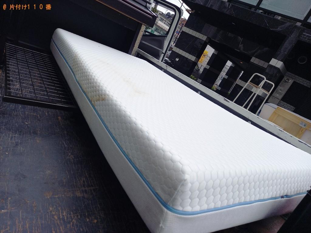 【世田谷区】マットレス付きシングルベッドの回収・処分ご依頼