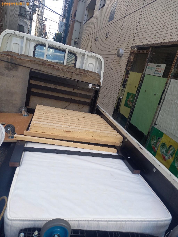 【中央区】マットレス付きシングルベッドの回収・処分ご依頼