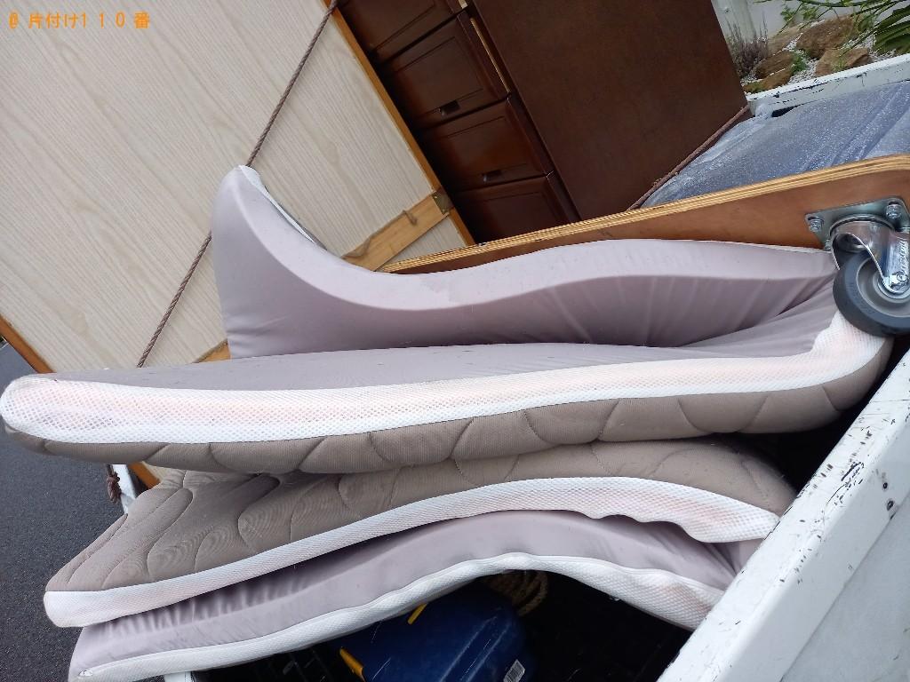 【世田谷区】ウレタンマットレス、布団の回収・処分ご依頼