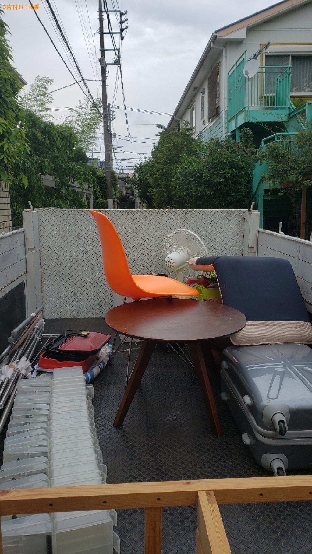扇風機、椅子、炊飯器、ハンガー、棚等の回収