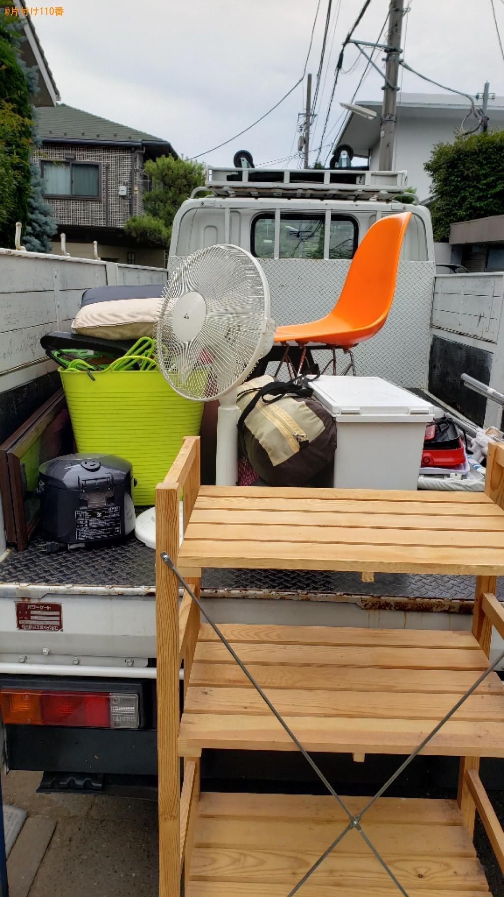 【練馬区石神井町】扇風機、椅子、炊飯器、ハンガー、棚等の回収