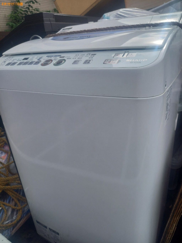 【板橋区】洗濯機、ローテーブル等の回収と水回りのクリーニング