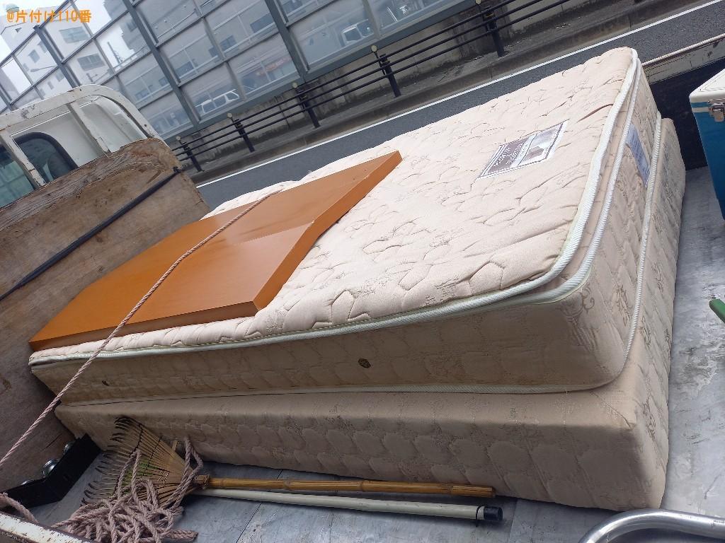 【豊島区要町】マットレス付きセミダブルベッドの回収・処分ご依頼